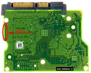 Seagate ST3500412AS 100535704 REV C 3.5'' SATA Hard Drive Donor PCB
